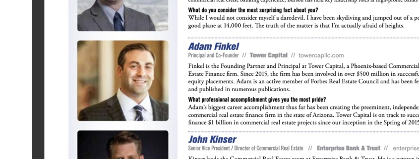 "Adam Finkel named as ""People to Know in Commercial Real Estate"""